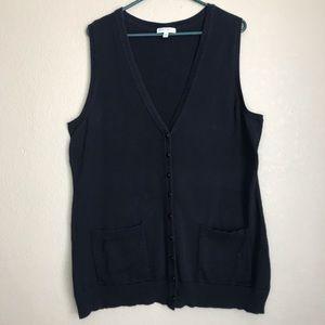 F.B. Black Sweater Vest, Size 0X